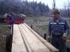Práce s deskami - začátek vytyčení kostela 2008