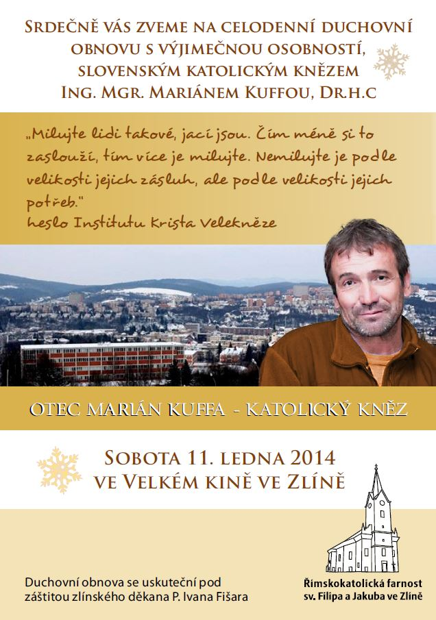 Duchovní obnova s P. Marianem Kuffou, Zlín – 11. ledna 2014