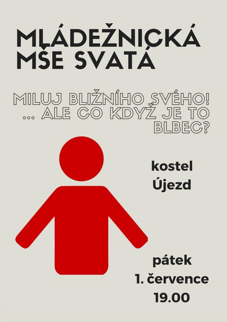 Mládežnická mše - plakátek