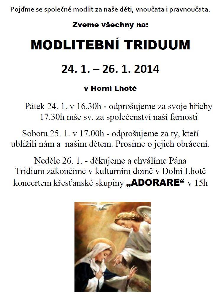 Modlitební triduum 24. 1. – 26. 1. 2014