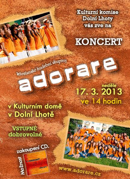 Koncert křesťanské hudební skupiny Adorare - 17. 3. 2013