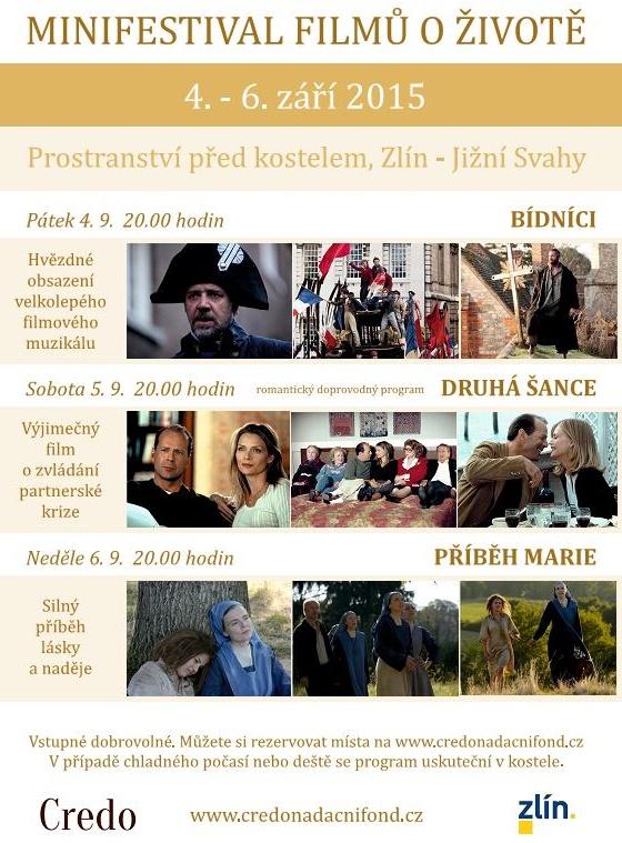 Minifestival filmů o životě – Zlín 4. – 6. 9. 2015