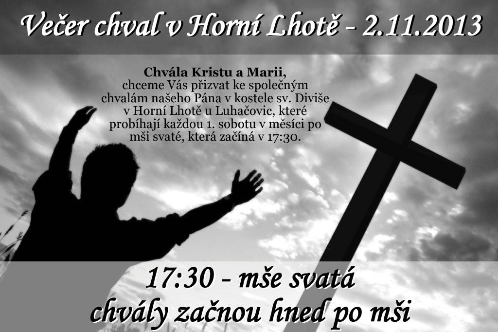 Večer chval v Horní Lhotě – 2. 11. 2013