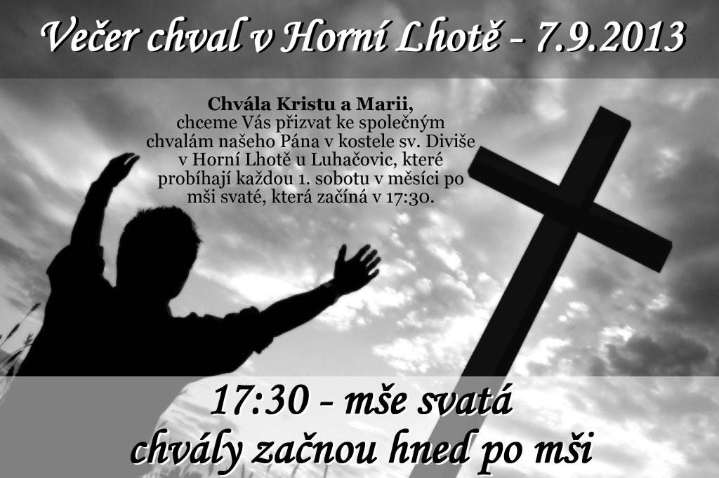 Večer chval v Horní Lhotě – 7. 9. 2013